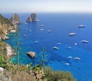 Wybrzeże wyspa Capri, Włochy Fotografia Stock