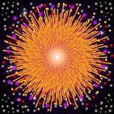 wybuchów fajerwerki Zdjęcia Stock