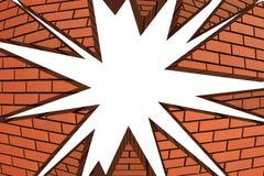 wybuch łamana ściana Zdjęcie Stock