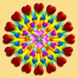 wybuch 1 serce Obraz Royalty Free