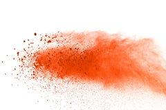 Wybuch barwiony proszek na białym tle, Abstrakt splatted barwiony pył kolor chmura zdjęcie stock