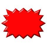 wybuch czerwony 3 d royalty ilustracja