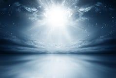 Wybuch gwiazda w niebie zdjęcia royalty free