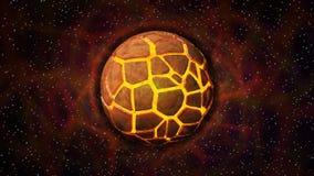 Wybuch tajemnicy planeta ilustracji