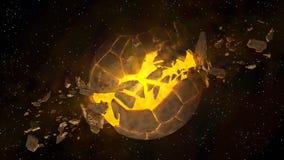 Wybuch tajemnicy planeta ilustracja wektor