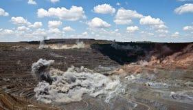 Wybuch w otwartym - lana kopalnia Zdjęcie Stock