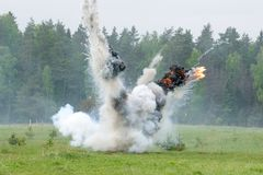 Wybuch z dymem Obrazy Royalty Free