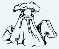 Wybuchać wulkan ilustracji