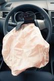 Wybuchający airbag zdjęcia stock