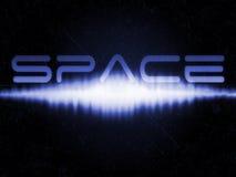 wybuchu akustyczny astronautyczny starfield tekst Fotografia Stock