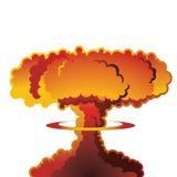 Wybuchu bomby atomowej grzyb atomowy royalty ilustracja