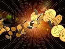 wybuchu dolar Zdjęcie Royalty Free