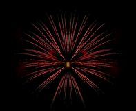 wybuchu fajerwerku czerwień pojedyncza Zdjęcia Royalty Free