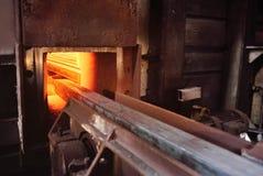 Wybuchu piec przy metalurgiczną rośliną Zdjęcia Stock