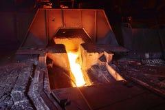 Wybuchu piec przy metalurgiczną rośliną Zdjęcie Stock