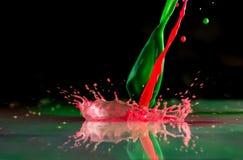 Wybuchy i pluśnięcia od spada farb różni kolory zdjęcia royalty free