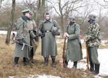Wybujali Niemieccy fascist żołnierze Obrazy Stock