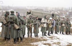Wybujali Niemieccy fascist żołnierze Fotografia Stock