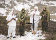 Wybujali rosjanów szpiedzy Zdjęcia Royalty Free