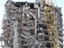 Wyburzać highrise budynek Obrazy Royalty Free
