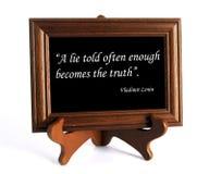 Wycena o kłamstwie i prawdzie zdjęcie royalty free