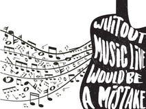 Wycena o muzyce z kredowymi narysów skutkami Obraz Stock