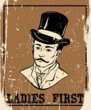 Wycena typographical tło o dżentelmenie Obrazy Royalty Free