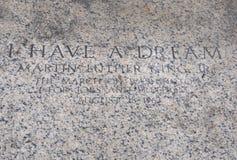 Wycena Wielebny Martin Luther King jr na podłoga przód Lincoln pomnik od Waszyngtońskiego dystryktu kolumbii usa fotografia royalty free