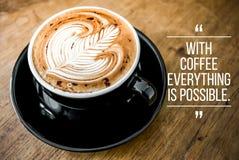 Wycena z kawą obrazy stock