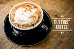Wycena z kawą zdjęcie stock
