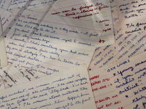 Wycena zauważa ręcznie pisany Ronald Reagan na pokazie przy Ronald Reagan biblioteką w Simi dolinie Zdjęcie Stock