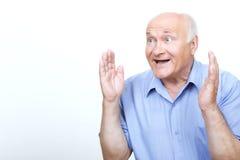 Wychodzę dziadek patrzeć dla dzieci Obrazy Royalty Free
