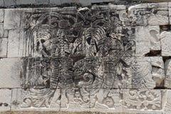 wycięte chichen itza oznaki Meksyk Obraz Royalty Free