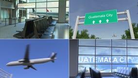 Wycieczka Gwatemala miasto Samolot przyjeżdża Gwatemala montażu konceptualna animacja zbiory wideo