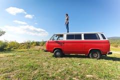 wycieczka samochodowa obrazy royalty free