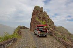 Wycieczka samochodowa na wyspie Santo Antao, przylądek Verde Zdjęcie Royalty Free