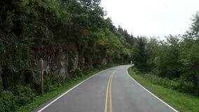 Wycieczka samochodowa przez appalachian gór zbiory