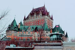 Wycieczka samochodowa Quebec miasto 3 obrazy royalty free