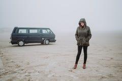 Wycieczka Samochodowa w zima czasie Zdjęcie Royalty Free