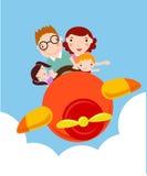 wycieczka samolotowy rodzinny wakacje Fotografia Stock