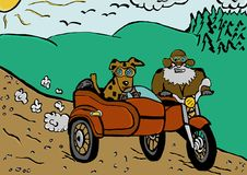 Wycieczka sidecar Fotografia Stock