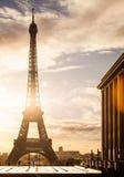 Wycieczka turysyczna Eiffel, Paryż Zdjęcia Royalty Free