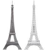 Wycieczka turysyczna Eiffel, Paryż Obraz Royalty Free