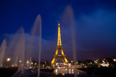 Wycieczka turysyczna Eiffel w Paryż zdjęcia stock