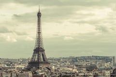Wycieczka turysyczna Eiffel w Paryż Zdjęcia Royalty Free