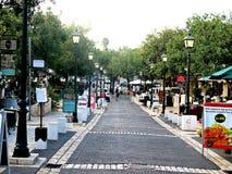 Wycieczka turysyczna ulicy Zichron Yaacov Zdjęcia Royalty Free