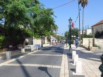 Wycieczka turysyczna ulicy Zichron Yaacov Obraz Royalty Free