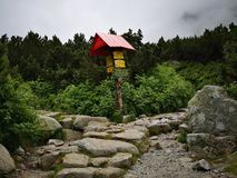 Wycieczka turysyczna Wysoki Tatras obrazy royalty free