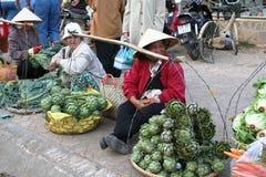 Wycieczka Wietnam: tradycyjny rynek w Dalat Obraz Stock
