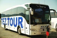 Wycieczki autobusowej Teza wycieczka turysyczna zdjęcia stock